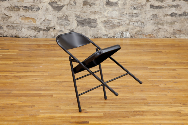 Wala, Magic (Pt. 2) 2012 Folding chair 35 x 25 x 18 inches