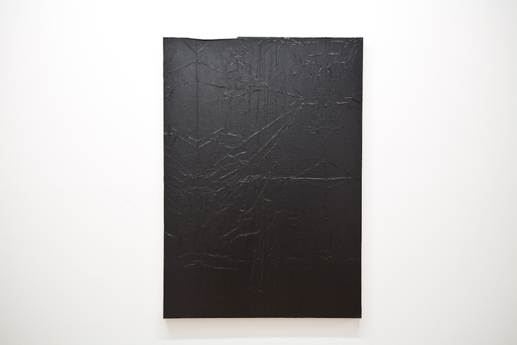 Andrew Sutherland Untitled (Garbage Bag) 2011 Acrylic on Canvas 34 x 48 inches