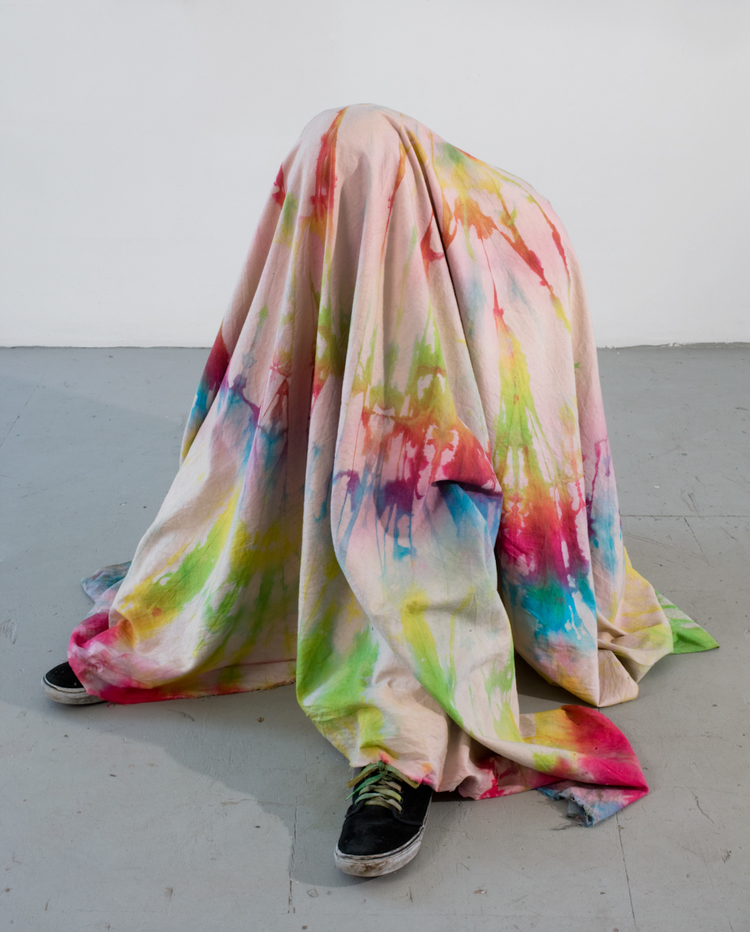 Brendan Lynch Untitled 2009 Tie-Dyed canvas, artist's mixed media Dimensions variable