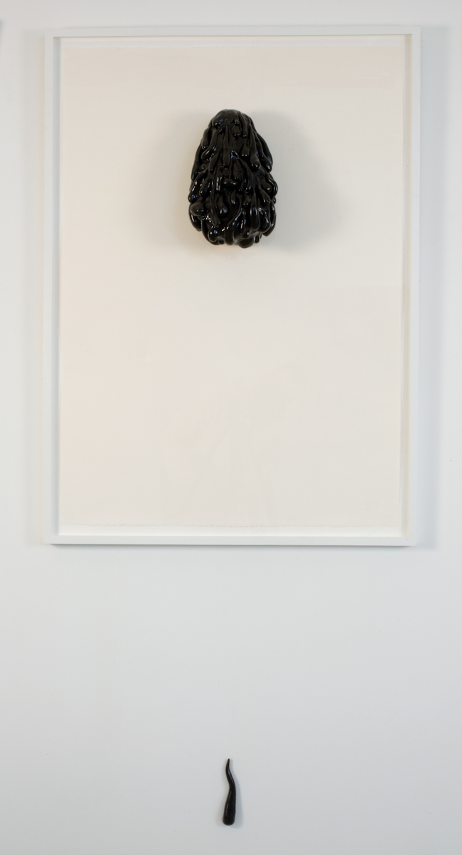 Jack Greer A Portrait of a Friend, As a Drawing, As a Sculpture 2009 Resin Sculpture mounted on plexi glass 30 x 40 inches
