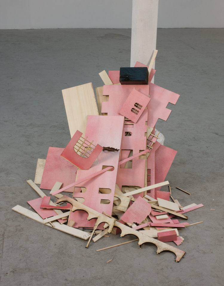 Isaac Brest  Howdy Neighbor  2009  Enamel on plywood  Dimensions variable