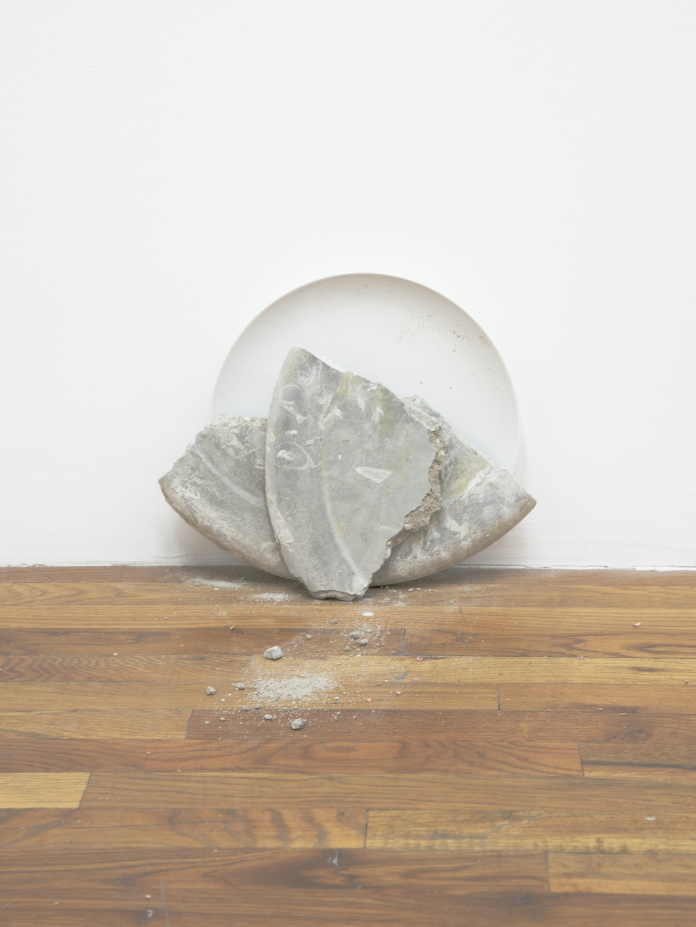 Side of Clams 2013 Concrete and plate 12 x 13 inches