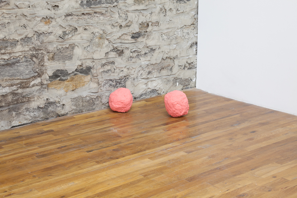 Carol Hu & Izabelle New  Balls 1-4   2013  Plaster and paint  10 x 10 x 8 inches each