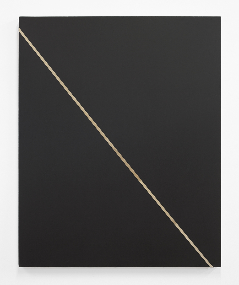 Honeymoonfit 2013 Oil, industrial rubber band on canvas 48 x 60 inches