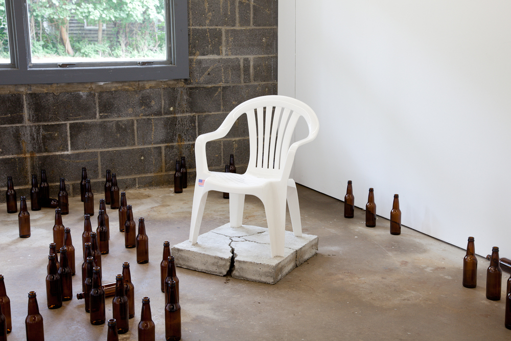 Alex Perweiler Break Free 2013 Concrete and plastic 38 x 20.5 x 20.5 inches