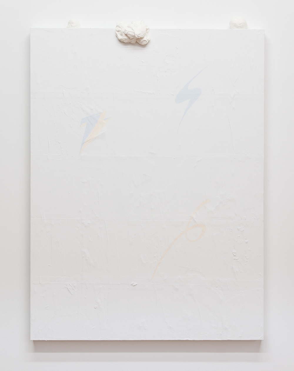 This Game is No Game   2013 Paint and plaster on wood panel  48 x 36 inches