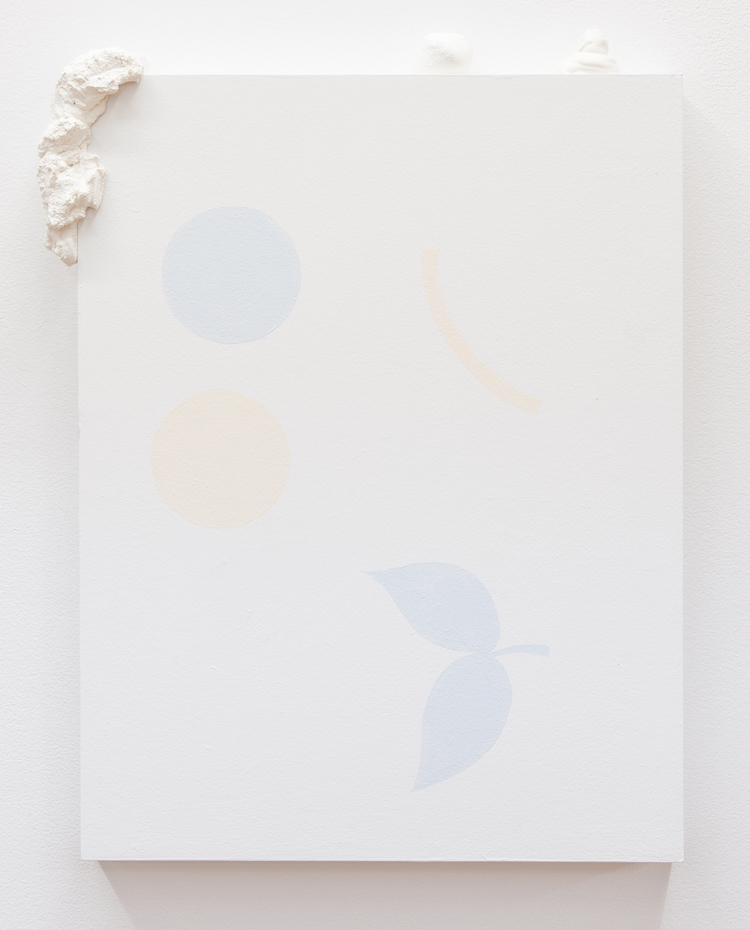 Mad Libs (holding hands in the park)  2013 Paint and plaster on wood panel  19.5 x 15 inches