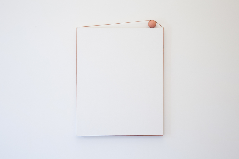 Alex Perweiler and Zachary Susskind  Parcel  2012 Rubber, gesso on canvas 32 x 24 inches