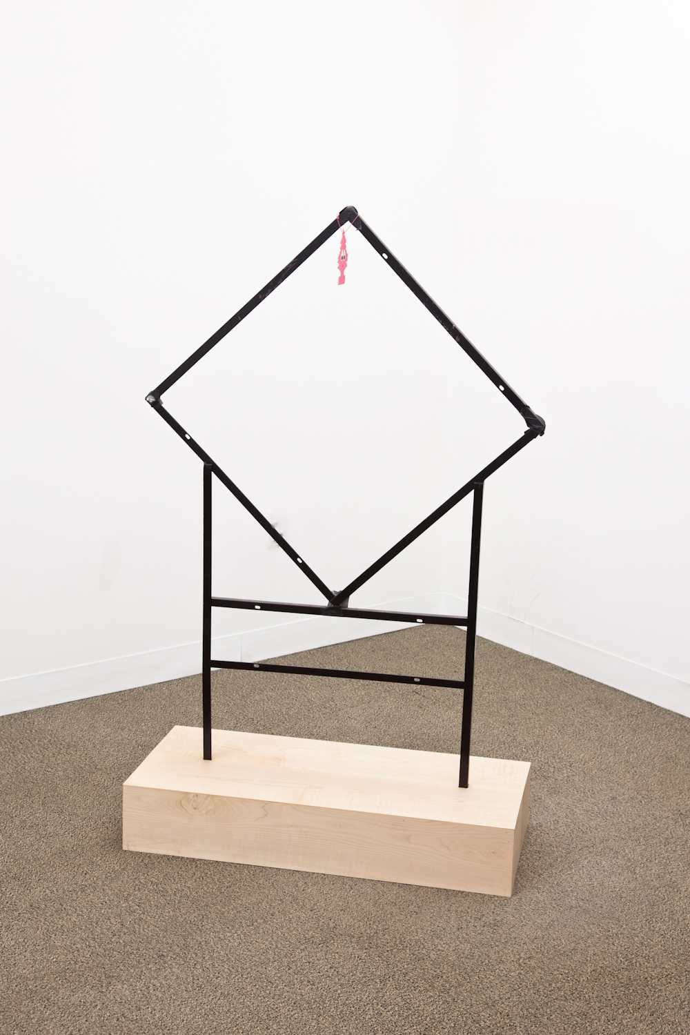 Peter Sutherland  Foreclosed  2012 Wood, steel, tape, enamel 57 x 34 x 14.5 inches