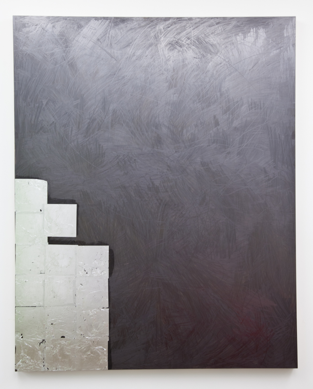Brendan Lynch  Chill Drink  2012 Graphite and aluminum leaf on wood panel 60 x 48 inches