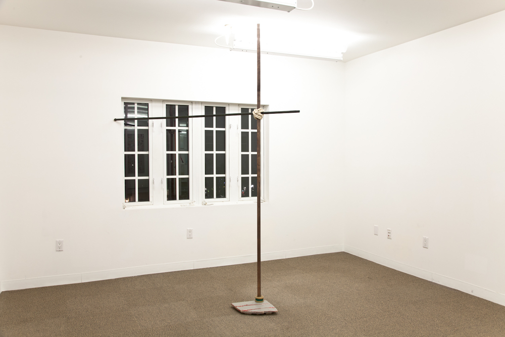 Zachary Susskind  That is the Old Way  2012 Brass, ink, wood, rubber, latex, tape, enamel 97.5 x 84 x 14 inches