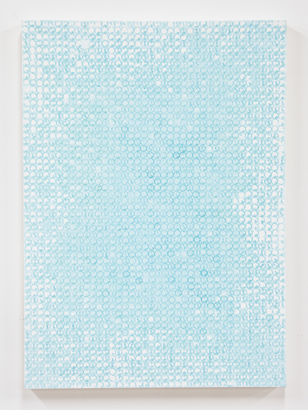 Nick Darmstaedter   Henne  2012  Oxidized copper on canvas  42 x 30 inches