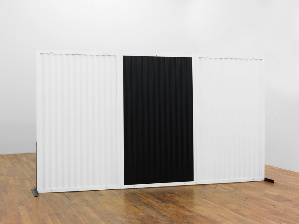 Standing Partition (triple)  2013 Steel, Hardware, Poly-acrylic paint 60 x 96 x 16 inches