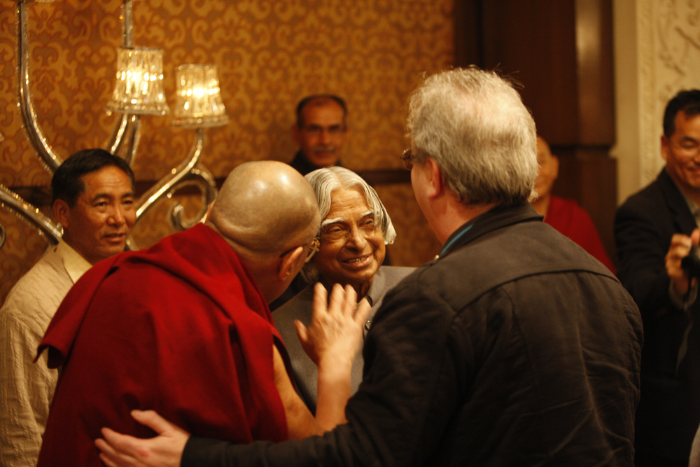 With Richard Moore and Abdul Kalam (Delhi)