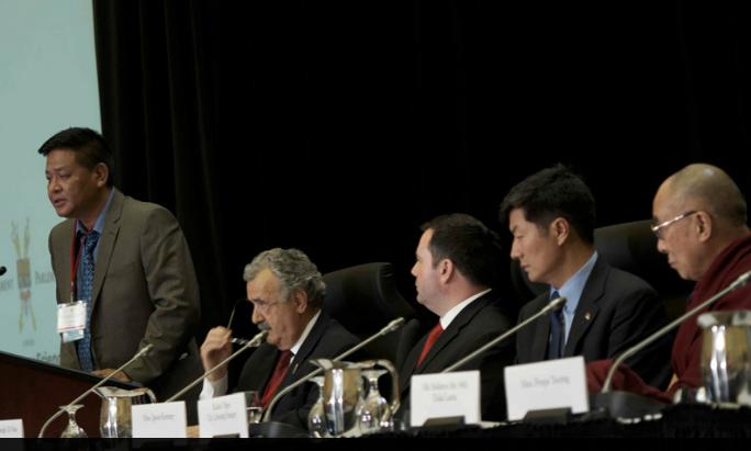 Penpa Tsering, Senator Di Nino, Jason Kenney, Lobsang Sangay (Ottawa)