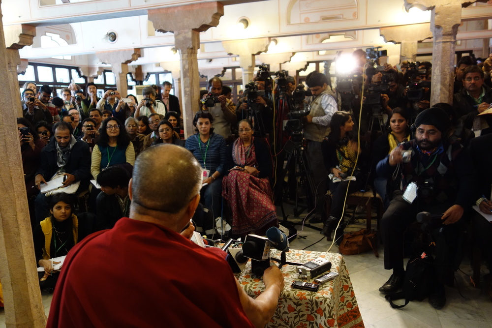Press conference at the Jaipur Lit Fest, Diggi Palace