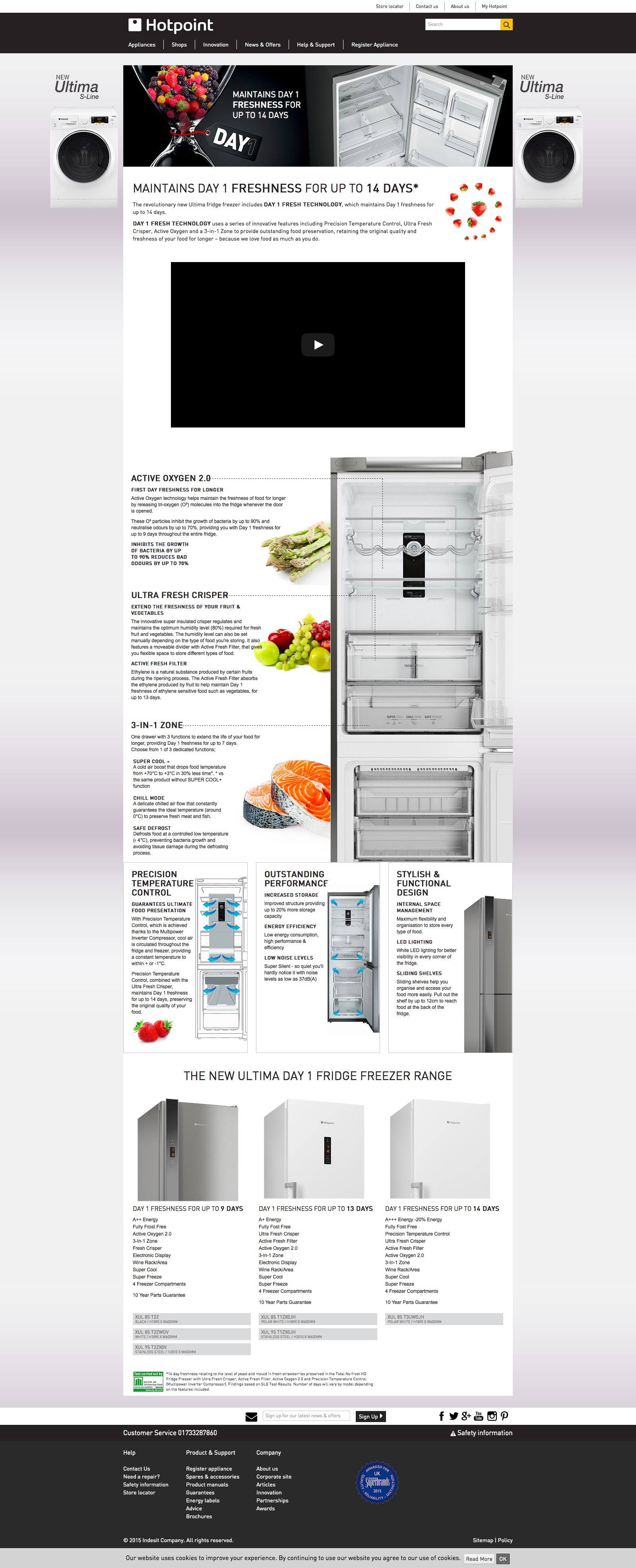 Day 1 Fridge Freezer campaign for Hotpoint
