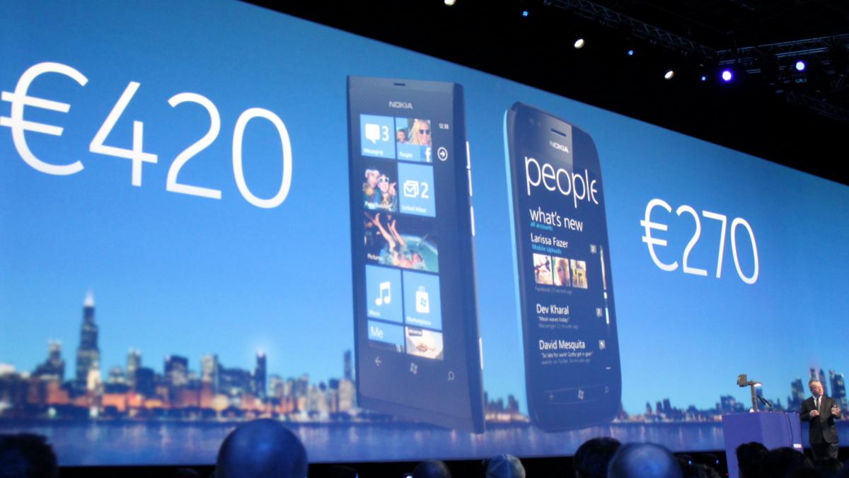 Nokia Windows Phone pricing