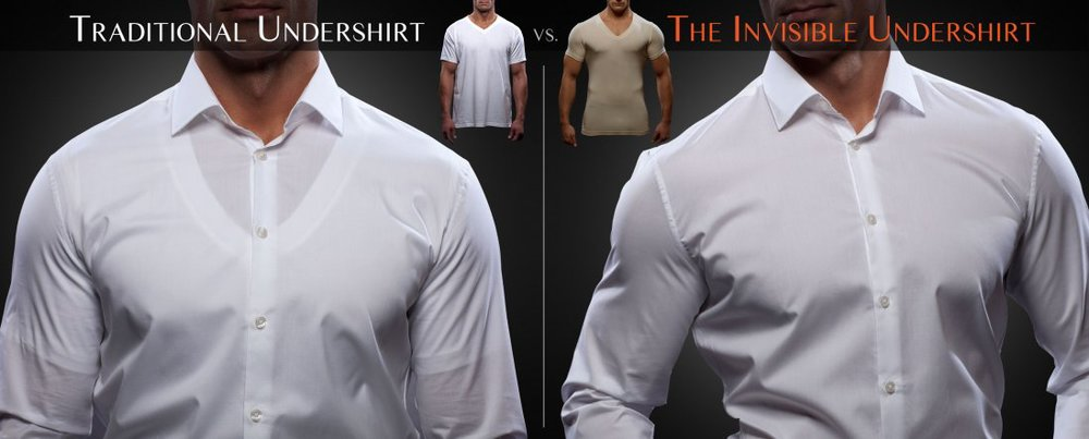 Black Undershirt With Dress Shirt