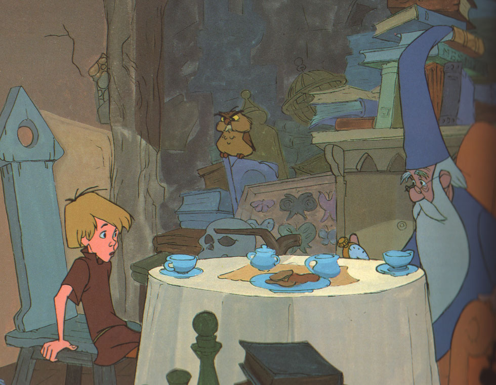 Walt Disney's The Sword in the Stone. Having joined Milt Kahl's unit, this was one of the first scenes I worked on.