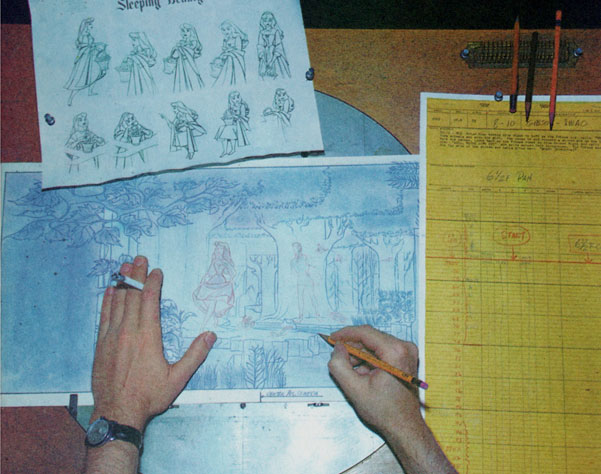 The animator's drawing board. Believe or not, this is how we made magic in the old days.