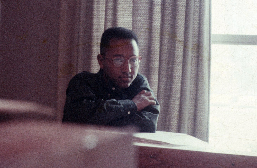 This is young Floyd Norman. A shot taken at Disney back when he was younger than his youngest son, Brandon.