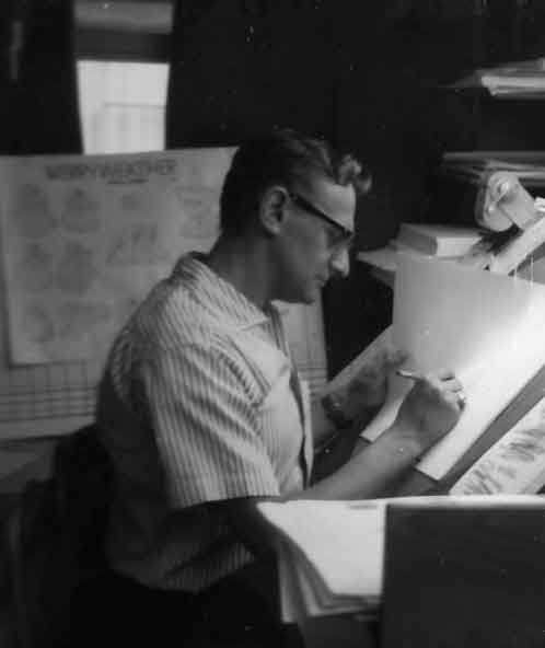 Our team leader on Sleeping Beauty. Freddy Hellmich guided the final animation art of The Three Good Fairies.
