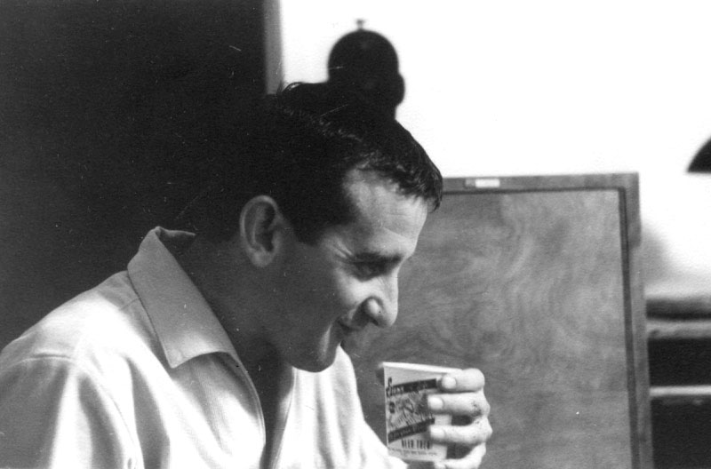 My friend and colleague, Dave Michener enjoys a morning cup of coffee at the Walt Disney Studio back in the sixties. Dave may be smiling but the coffee was pretty darn awful.