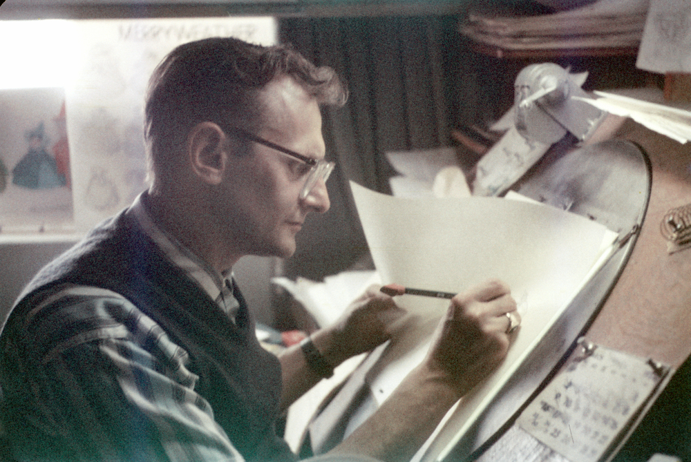 My boss on Sleeping Beauty was the talented Disney animator, Freddy Hellmich. He was my mentor and my friend.