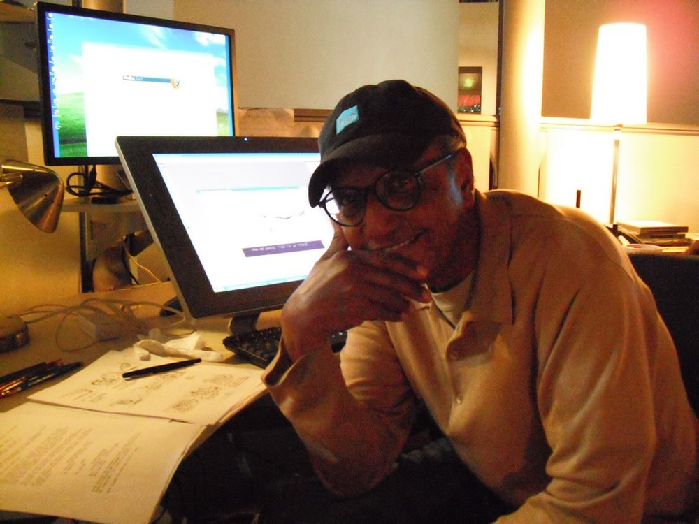 Working on an animated cartoon feature film in Santa Monica. Yes, this old guy actually knows how to use a computer.