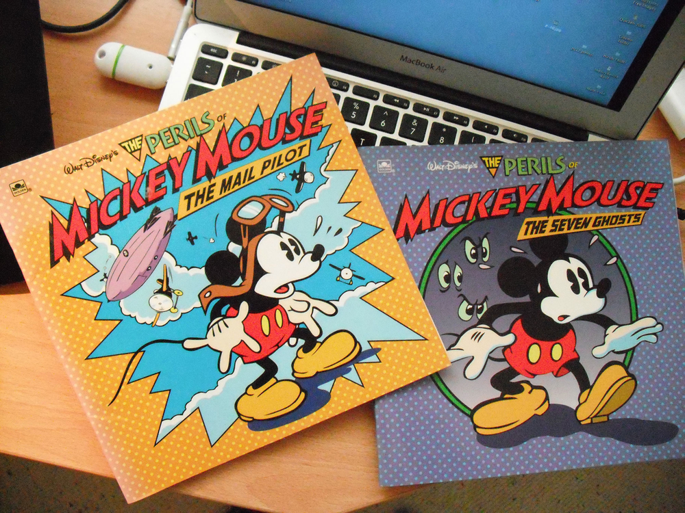 The 1993 Mickey Mouse Series. Much of the work was done by my wife, Adrienne. She was our computer expert and guided us guys through the process.