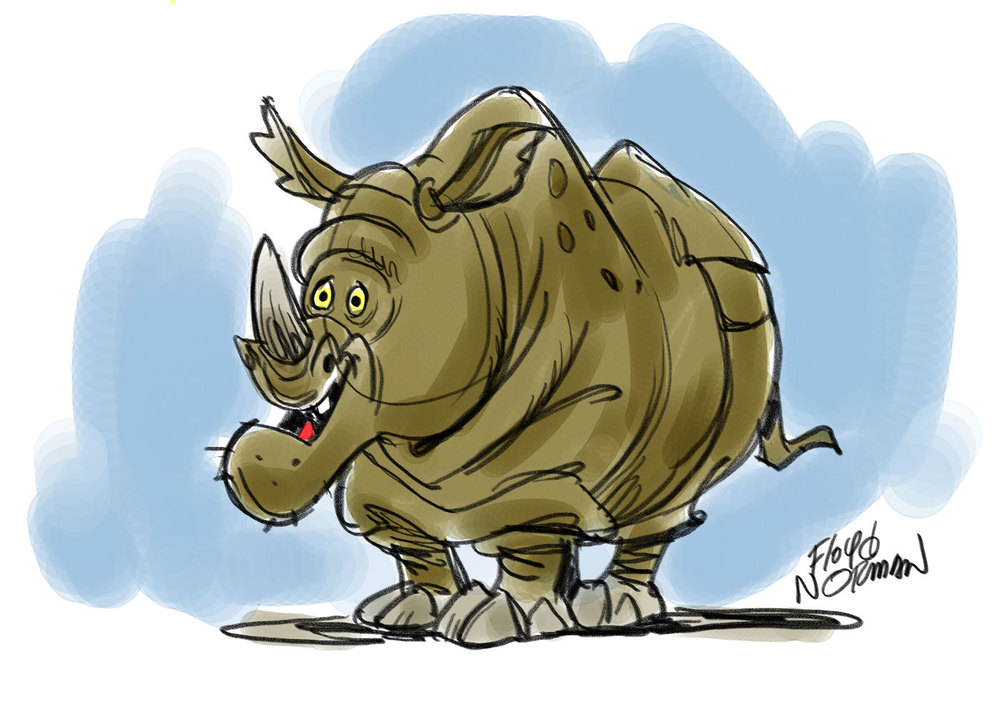 Milt Kahl couldn't wait to animate Rocky the Rhino but Walt Disney had other ideas.