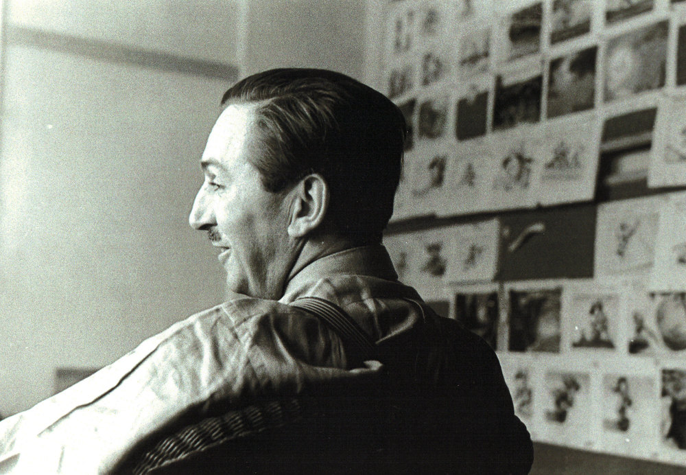Walt Disney presides over a story meeting at his Hyperion Studio in Silver Lake. These were the good old days.