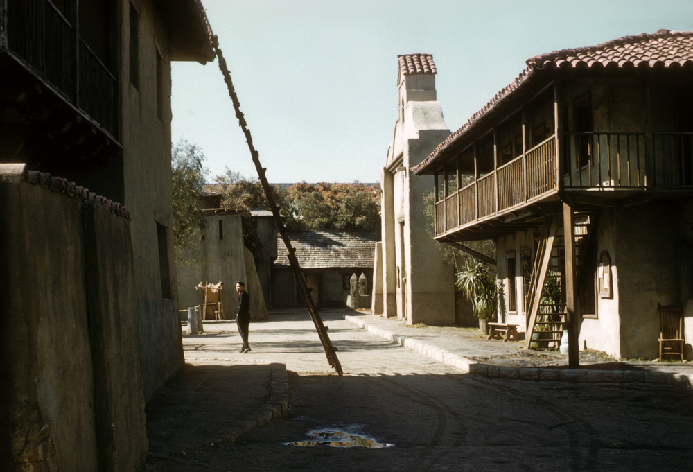The Zorro set on the Walt Disney Studios back lot. It was a great place to wander at break time.