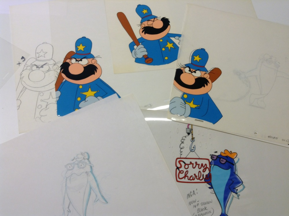 A few hand inked and painted cartoon cels. This was the way we created cartoons in the old days.