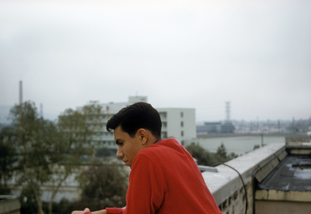 We are nearing the end of Walt Disney's Sleeping Beauty. My pal, Rick Gonzales takes time to contemplate the future on the Animation Buildings' rooftop. The year is 1958.