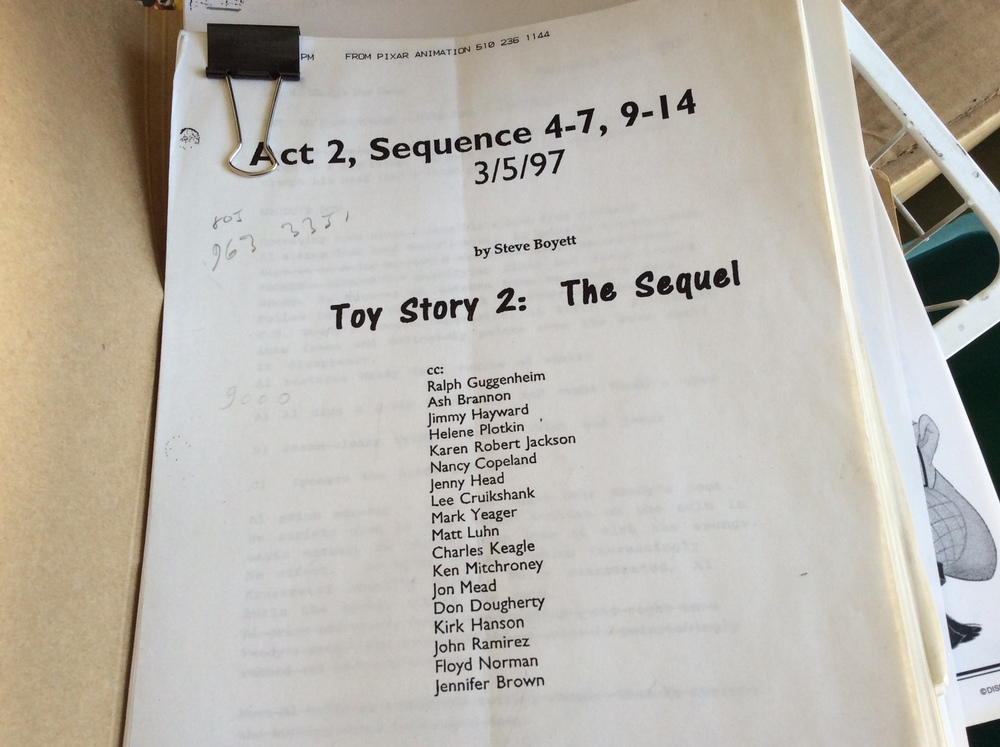 An early screenplay by Steve Boyett. We were only a handful at the time but something great was in the works. It would be another two years before we would know the answer.