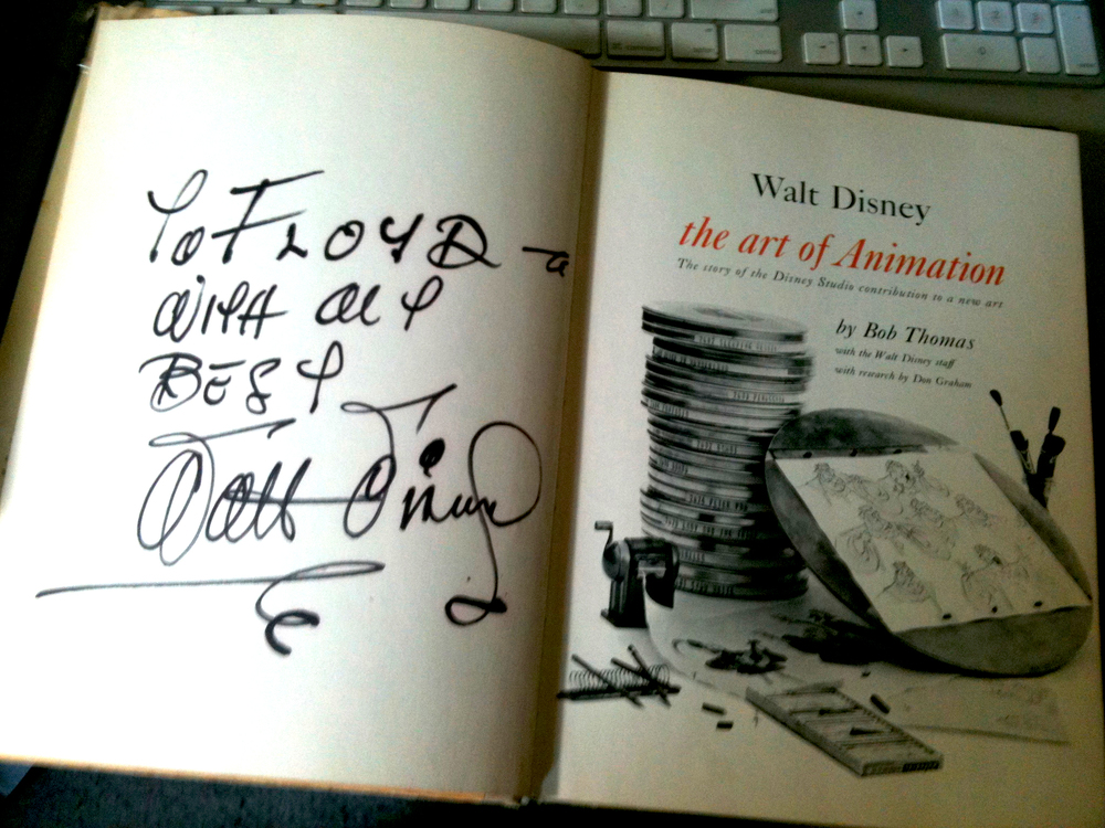 Walt Disney actually signed my book. What's cooler than that?