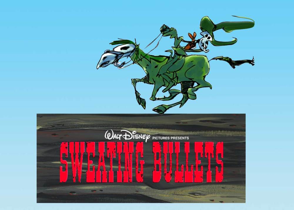 "One of the dead cowboys in the Disney animated film, ""Sweating Bullets."" A clever, innovative cartoon feature film we managed not to make. Oh, the wisdom of Disney management."