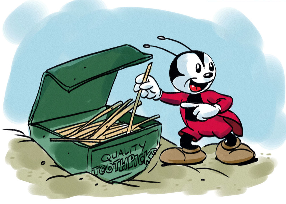 The delightful, Bucky Bug. A fun, appealing character that few even know exists today.