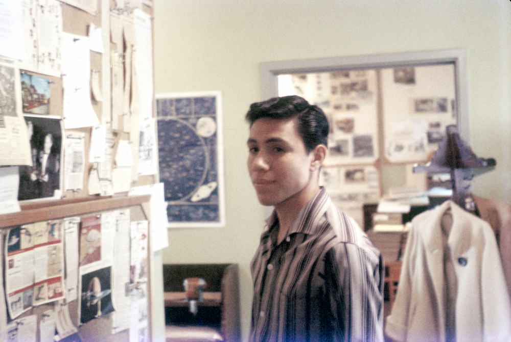 That's my pal, Rick Gonzales and we're taking an uninvited tour of Ward Kimball's offices on the second floor of the Animation Building at Disney. Awesome!