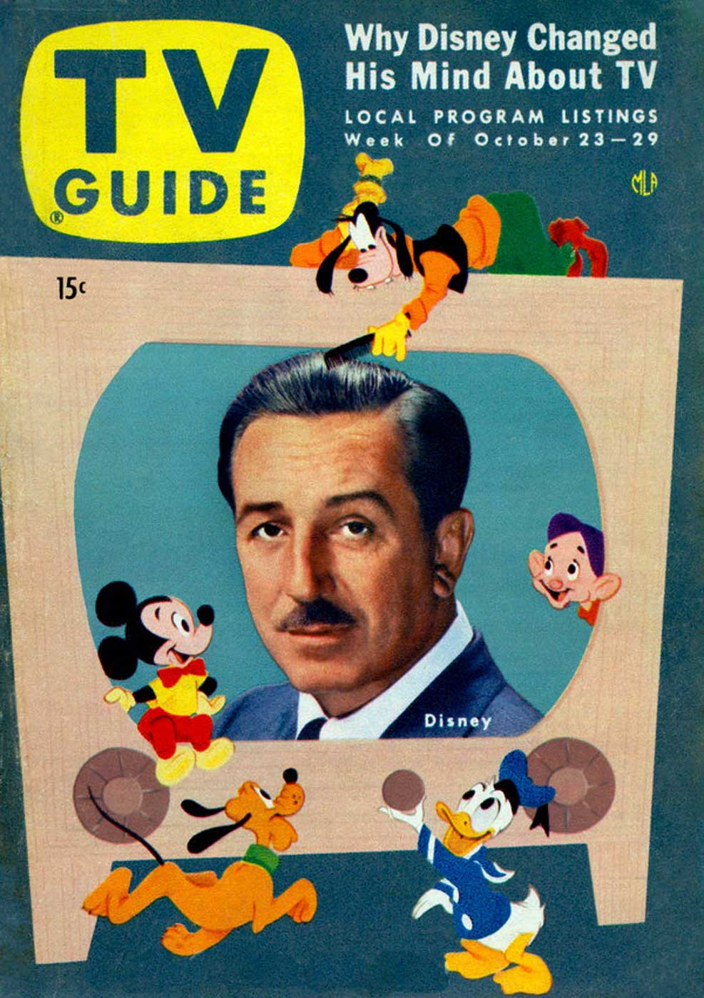 In time even the Old Maestro, Walt Disney would grace the cover of TV Guide. Walt's bold move to the small screen back in the fifties was a very big deal.