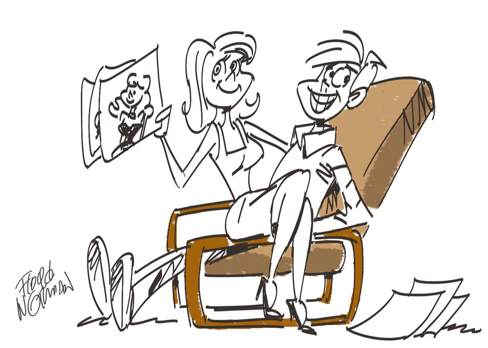 Every Disney animation artist had a KEM Weber chair in his or her office. They were terrific for reading, relaxing...or a few other activities.