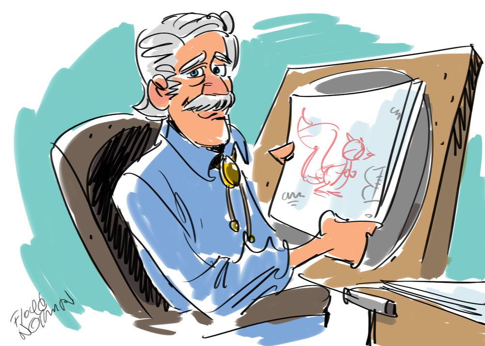 Disney animator, John Kennedy. Sorry, history buffs. He's no relation.