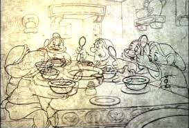We actually worked on the Soup Eating Sequence from Snow White and the Seven Dwarfs back in 1956