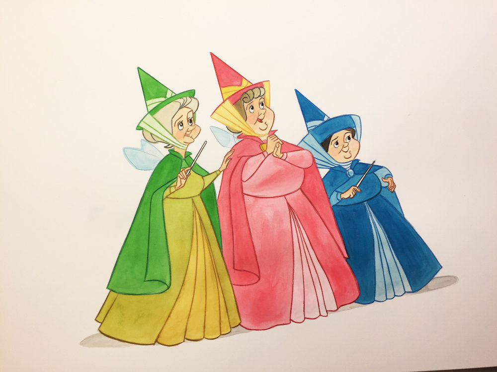 Flora, Fauna and Merryweather were three wonderful Disney characters. They became a big part of my life back in 1957.