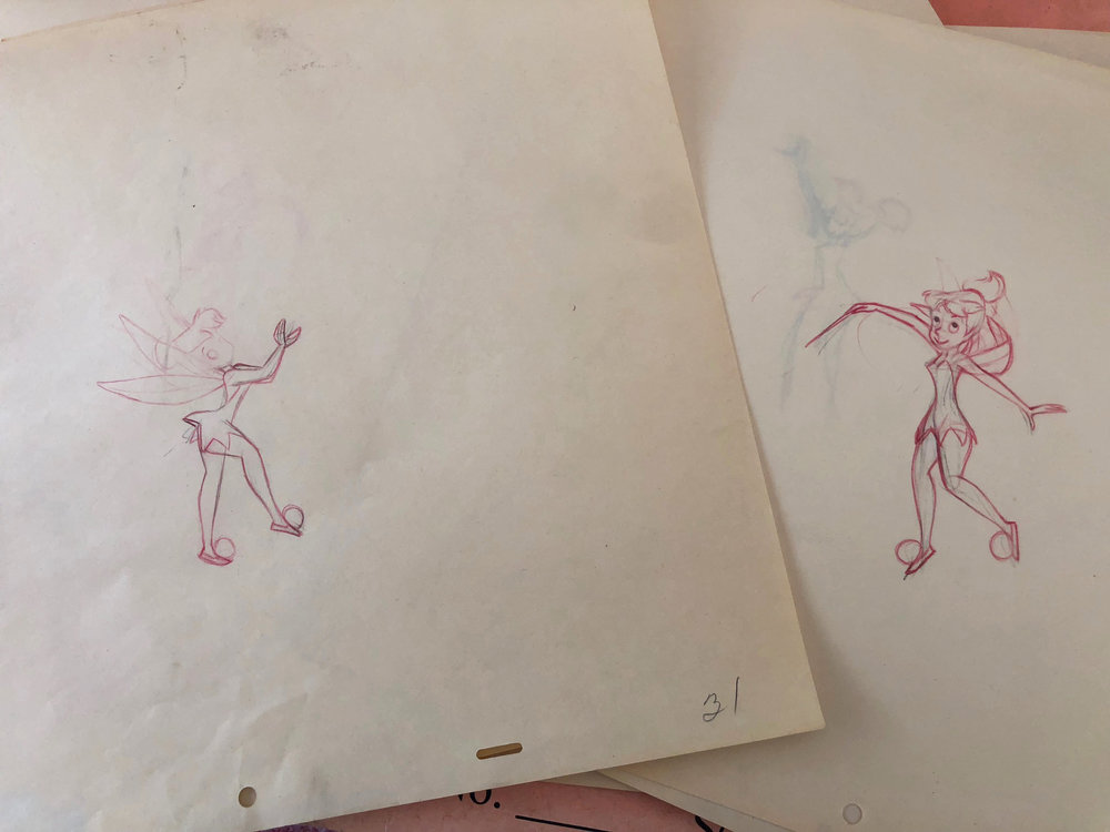 My original animation sketches from a fifties Disney television commercial. Margaret Kerry was our model.