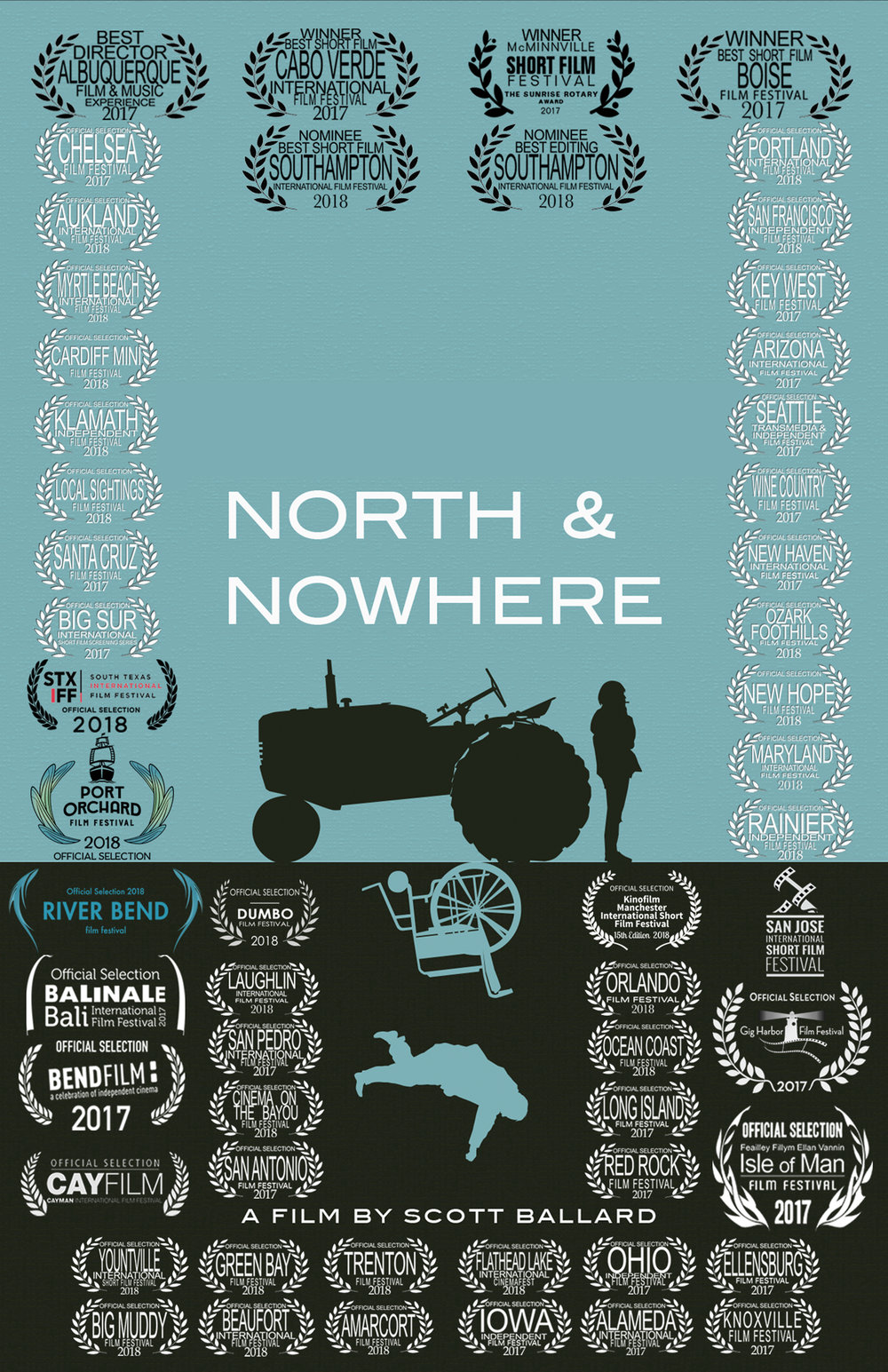 North & Nowhere - Directed by Scott BallardWhen Devan moved home to take care of her ailing father, she found herself stuck in a life she resented. As her father falls increasingly ill, she must find a way to reconcile the future with the responsibilities of family.Short Film - 12 min