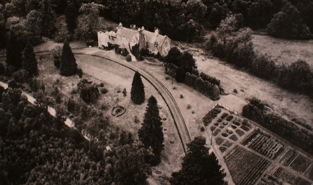 Duchray Castle from the air circa 1950