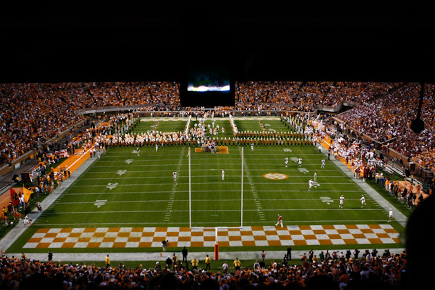 Neyland Stadium Tennessee vs Alabama 2010